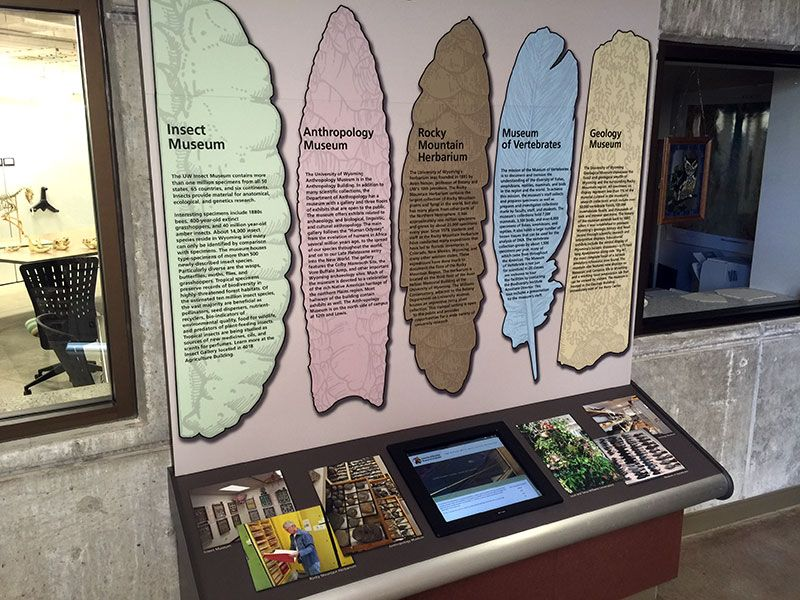 Photo of a display about the different museums and collections